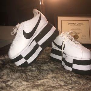 Comme Des Garçons x Nike Cortez Platform Sneakers